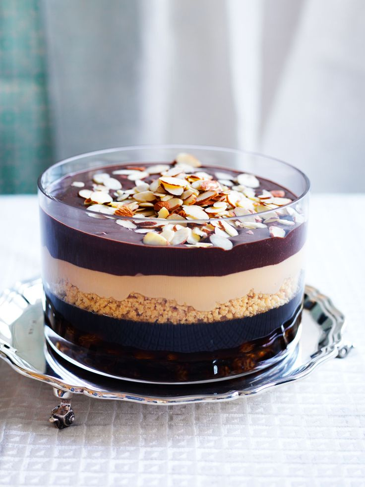 Pedro Ximenez jelly with chocolate and caramel layers recipe | SBS Food