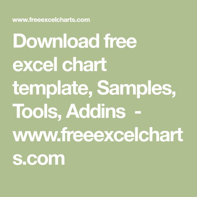 Download free excel chart template, Samples, Tools, Addins - www.freeexcelcharts.com