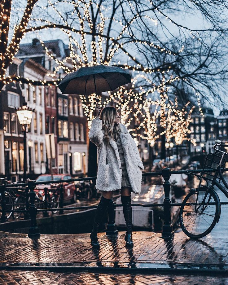 "7,226 Likes, 77 Comments - Jacqueline Mikuta (@mikutas) on Instagram: ""Lights💥 Fluffy rain dance ☔️ #amsterdam #mikutatravels"""