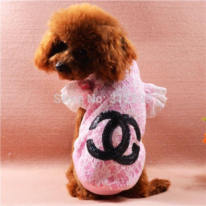 Pet roupas cor de rosa azul nova primavera verão XXS L rendas camiseta marca trajes do cão para pequenas filhote de cachorro animais gato Yorkshire Poodle em Coletes para Cachorros de Casa & jardim no AliExpress.com   Alibaba Group