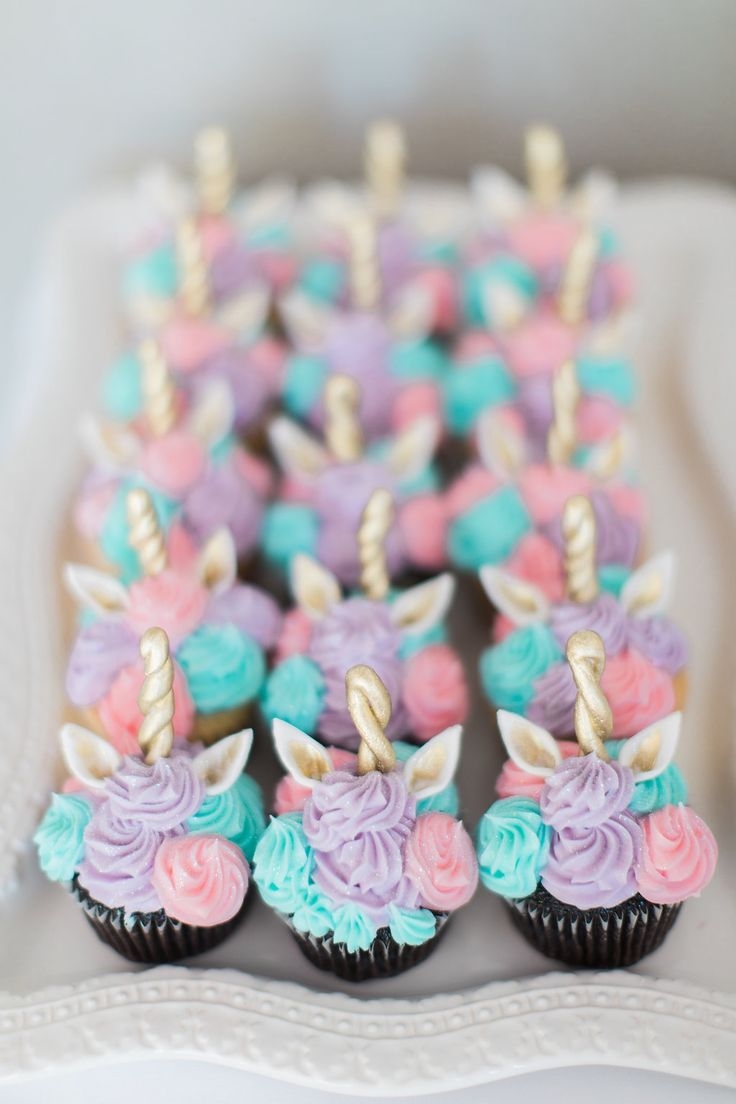 Baby's 1st Birthday! Unicorn Birthday! Unicorn cupcakes. Whimsical cupcakes