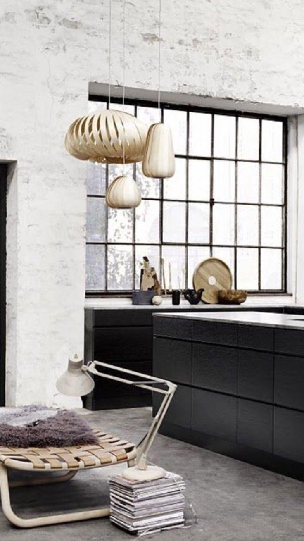 Kitchen inspiration black and white loft style design