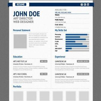 professional aurel blue cv resume form psd