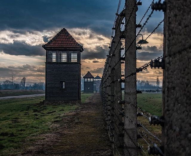 Auschwitz II-Birkenau. Fences and watchtowers of the BII sector of the camp. --- Photo by @stilinfoto --- #Auschwitz #AuschwitzMemorial #Birkenau
