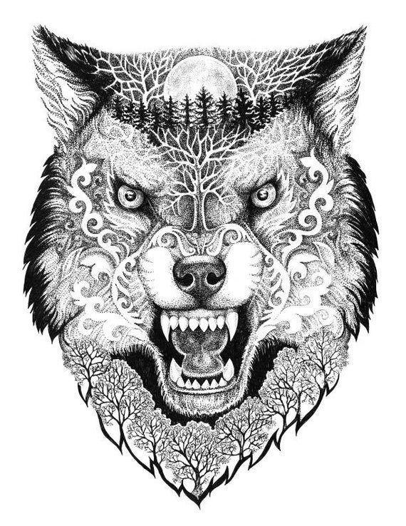 wolf tätowierung  wolf tattoo  tier tattoo  fake tattoo