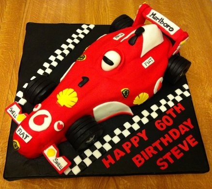 F1 racing car  Cake by ganda_21