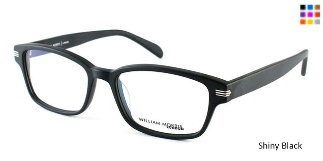 63a4618ccfd Shiny Black William Morris London WM3505 Eyeglasses