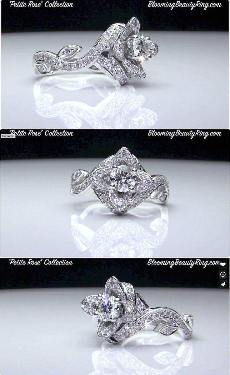 17 best images about flower engagement rings on pinterest. Black Bedroom Furniture Sets. Home Design Ideas