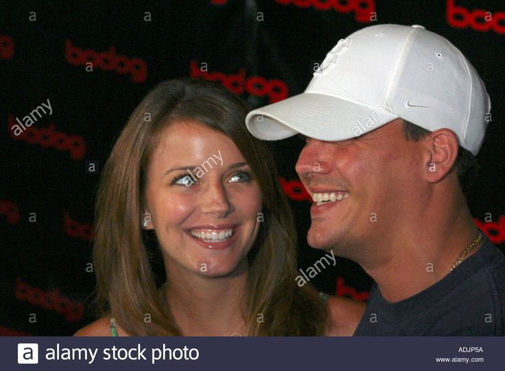 Download this stock image: Amber Brkich and husband Rob Mariano of TV reality shows Survivor and Amazing Race - ADJP5A from Alamy's library of millions of high resolution stock photos, illustrations and vectors.