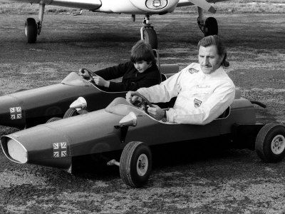 Racing Driver Graham Hill with son Damon.