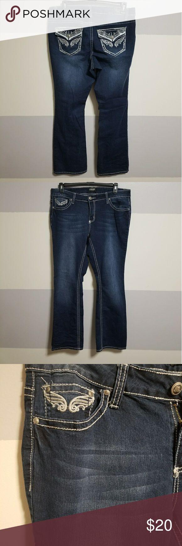 ZCO Jeans dark wash Dark wash ZCO Jeans, embellished back pockets. Only worn a few times! Comfortable slight stretch! ZCO Jeans