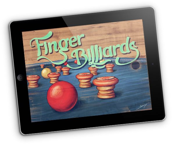 great scrolling effect from Finger Billiards