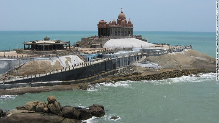 <strong>Kanyakumari, Tamil Nadu: </strong> Picturesque Kanyakumari -- formerly known as Cape Comorin -- sits at the tip of the Indian mainland in the far south. It's home to the Vivekananda Rock Memorial, located offshore on a small rocky island and dedicated to Swami Vivekananda, a holy saint.