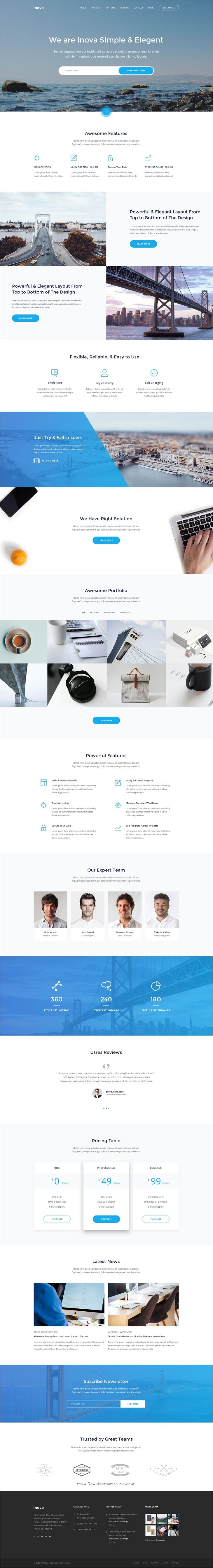 Inova is a creative PSD #landingpage #template for #startup Product, SaaS, App, or marking websites with 22 organized PSD pages download now➩ https://themeforest.net/item/inova-product-saas-app-startup-marketing-landing-page/19486443?ref=Datasata