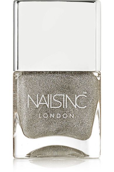 Nails inc - Holographic Top Coat - Electric Lane - Silver - one size