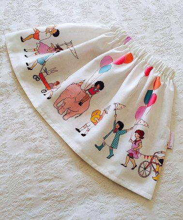 White Birthday Parade Skirt - Toddler & Girls by Alejandra Kearl Designs #zulilyfinds