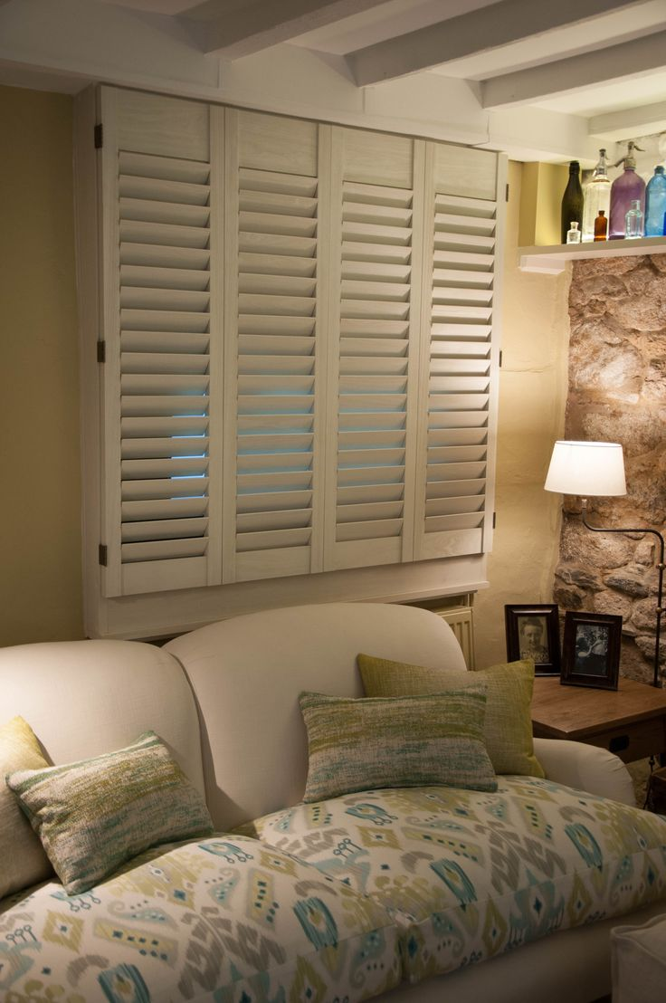 Bespoke #louvre #shutters - the perfect #television disguise