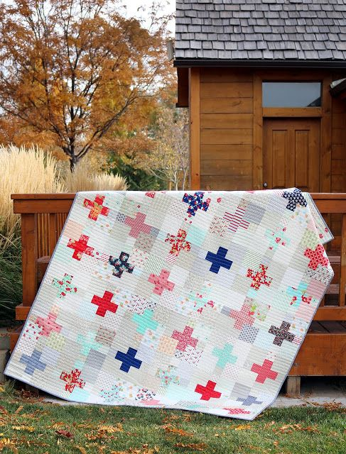 Love this scrappy quilt - she gives a link to the free block pattern