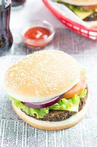 Vegan American Cheese Burger