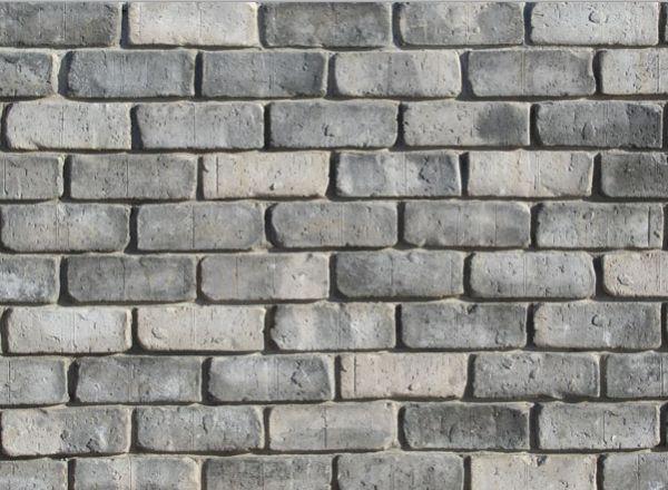 Tumbled Thin Brick Veneer (Color: Dark Grey)