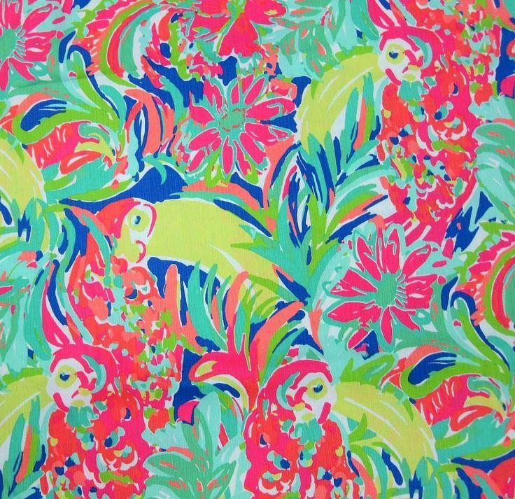 2016 Lilly Pulitzer Dobby Cotton Fabric Casa Banana 1 Yard #LillyPulitzer