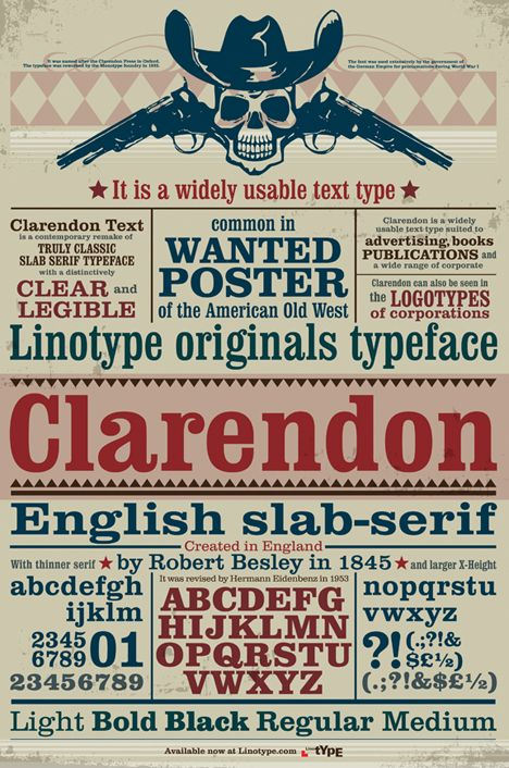 31 best Clarendon Font Family images on Pinterest   Typography ...