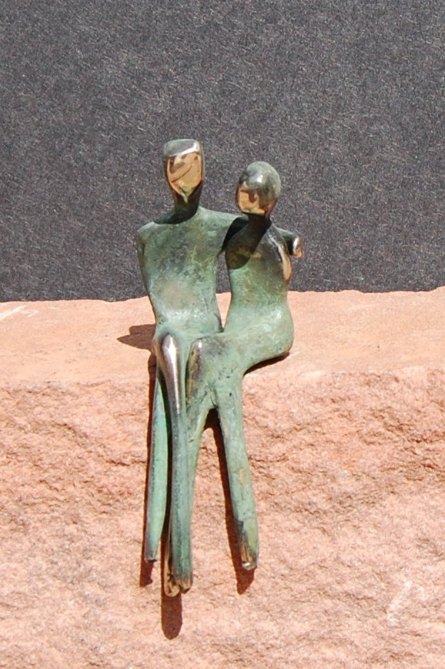 Miniature love couple sculpture, him holding her, christmas stocking stuffer with small base. $105.00, via Etsy.
