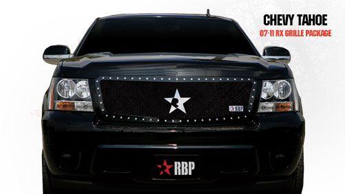Chevrolet Tahoe  2007-2011 - Rbp Rx Series Studded Frame Main Grille Black 1pc