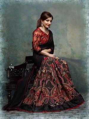 Soha Red Bollywood Designer Beautiful Sarees Bollywood Sarees Online on Shimply.com