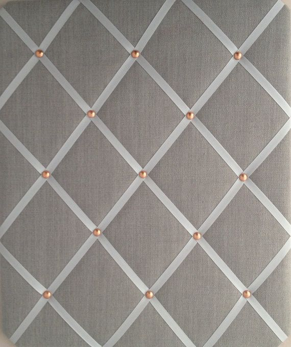 Pin Board/Notice Board Grey Linen Fabric with by eternalearth08                                                                                                                                                      More