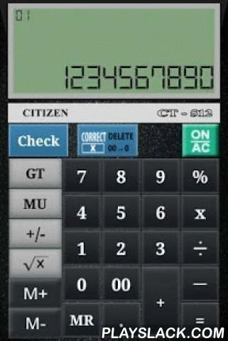 CITIZEN CALCULATOR  Android App - playslack.com ,  We are Angel NX and we are solving business problem by Making of Innovative Applications (App) for Regular Usage and Business Purpose. CITIZEN CALCULATOR gives you all the functionality like addition, multiplication, subtraction, division, percentage And additional functional like MU , M+, M-, Correct , Check etc.Mark Up (MU) is our main function which is use for Business where you have to give Discounts. This function you can not show in…