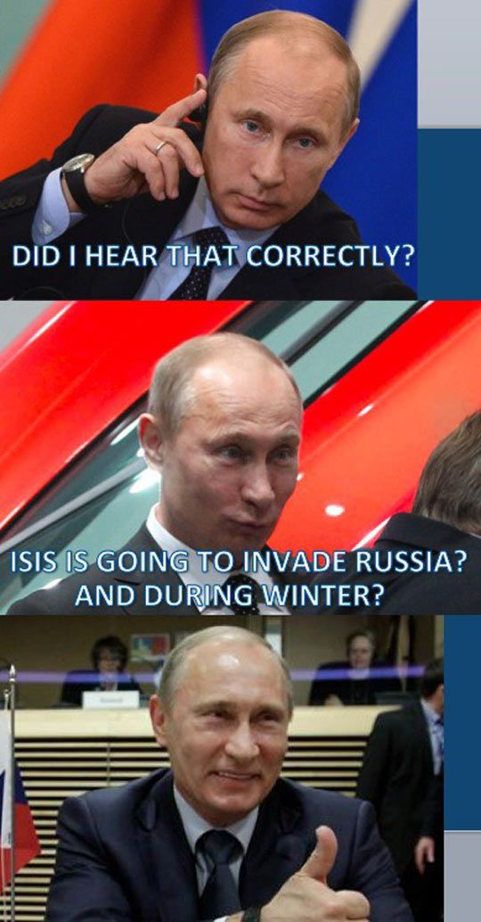 Putin Can't Hide His Excitement