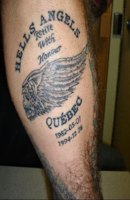 Hells Angels Quebec retirement tattoo