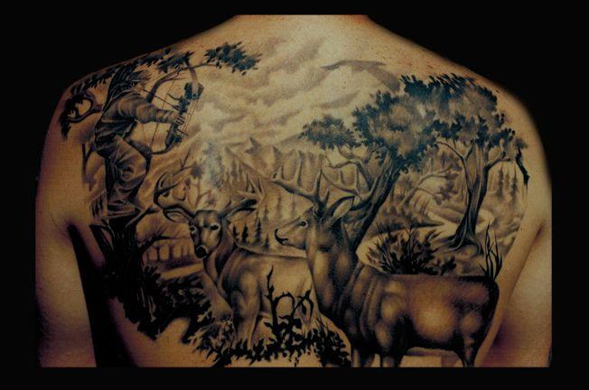 Bow Hunting Tattoos | Hunting Arrow Tattoo Design