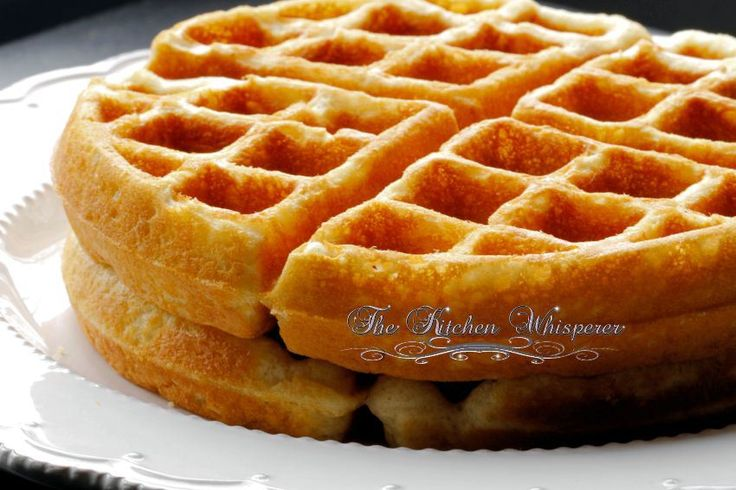 Best Belgian Waffle Recipe - Tastes like Funnel Cake
