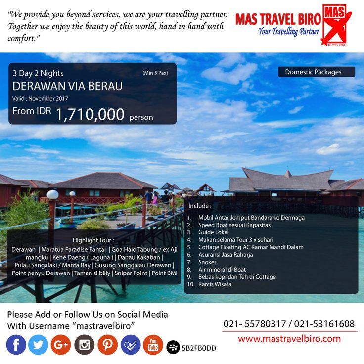 Mas Travel Biro punya promo tour Darawan Via Berau. 3 Hari dengan harga Rp 1.710.000 (Min 5 pax)  Untuk pertanyaan informasi tour,harga tiket pesawat, booking hotel tiket kereta api Add WA : 081298856950 Phone : 021 55780317 Email : tourhotel.metos@mastravelbiro.com  Beli tiket pesawat & KAI, booking hotel dan beli paket tour diMas Travel Biro ajaa.  #mastravelbiro #promotravel #travelagent #tourtravel