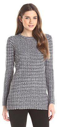 Theory Women's Belira Evian Stretch Tunic Sweater - Shop for women's Sweater - Navy/Ivory Ice Sweater