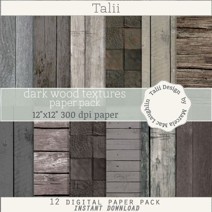 Wood Digital Paper DARK WOOD TEXTURES- 12 sheets of dark wood backgrounds rustic wood blocks black grey wood textures distress wood grain by TaliiDesign on Etsy