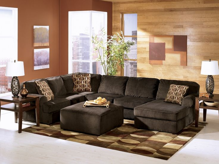 Ashley Furniture Vista Chocolate Sectional 684 04 Sofa Warehouse