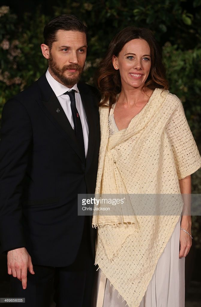 Kelly Marcel and Tom Hardy attend an official dinner party after the EE British Academy Film Awards at The Grosvenor House Hotel on February 16, 2014 in London, England.