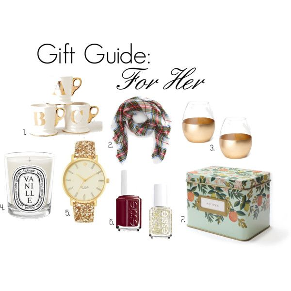 """Gift Guide: For Her"" by chloeoliverus on Polyvore"