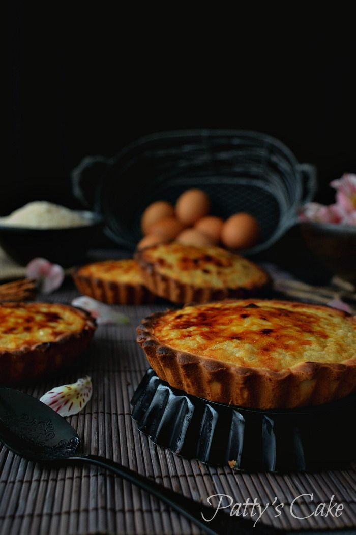 Pastel de arroz belga - Rijsttaartjen - Rice tarts - English recipe included