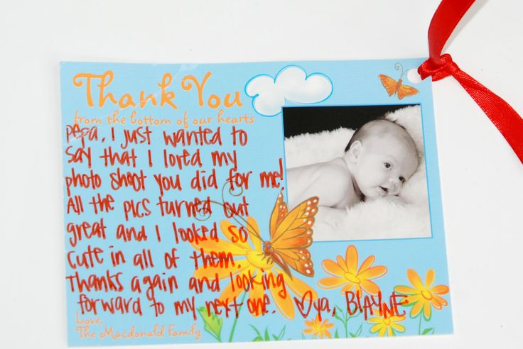 Thank you baby card, photo from PT´s Foto Fun