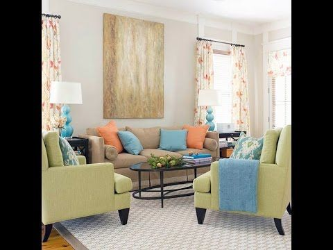 Engaging Color Scheme ~ Apple Green + Blue + Orange An Open Floor Plan And  Breezy Colors Give This Family Room An Engaging Look. Part 76