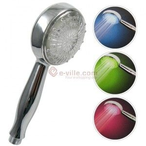LED showerhead, Led-värisuihku - e-ville.com Hinta19,95 €