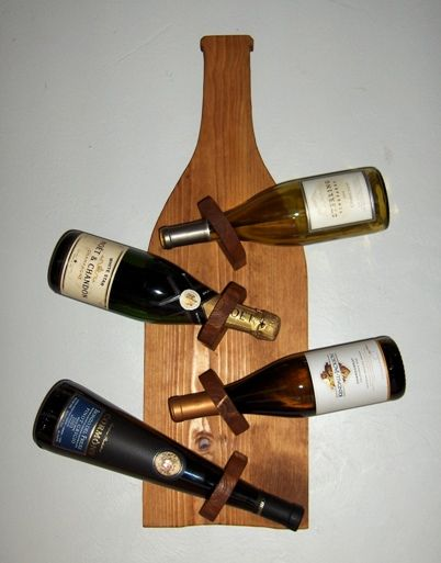 70 best things for my wall images on pinterest - Wine rack shaped like wine bottle ...