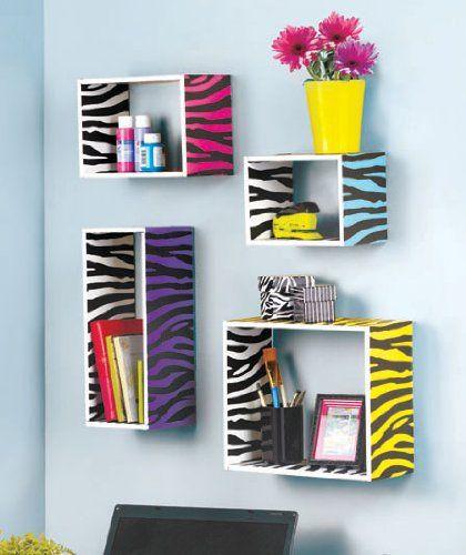 Teen Bedroom Zebra Print Wall Shelves - Set of 4 LDI http://www.amazon.com/dp/B00K36CY3W/ref=cm_sw_r_pi_dp_2.NYtb00XN3DYFSJ