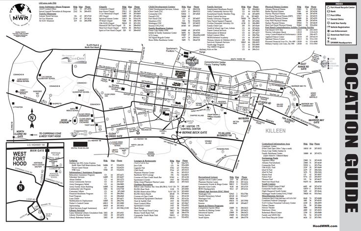 Fort Hood Military phone numbers and map of base, local