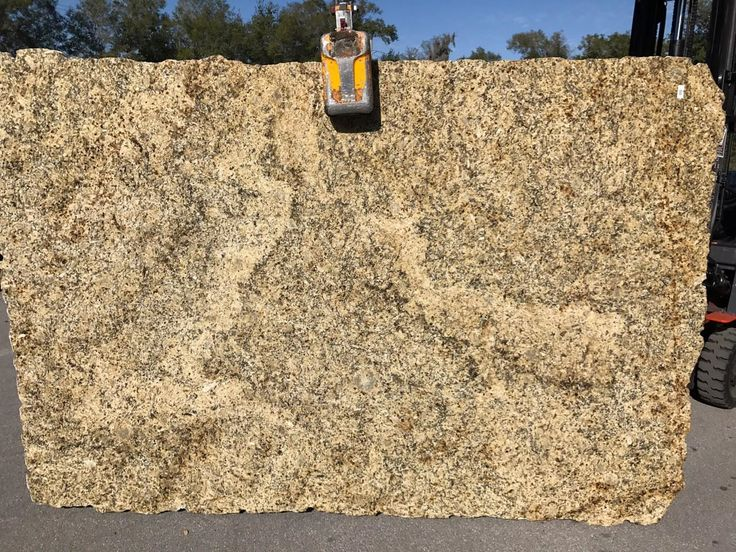 #NewVenetianGold #Granite slab from Brazil is a low variety granite highlights warm beige, yellows and grays. New Venetian Gold is perfect #naturalstone #granitecountertops for light and dark #kitchencabinet and #kitchenisland.