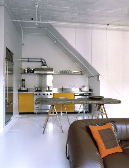 Loft kitchen.ohh i would love to say that's mine x